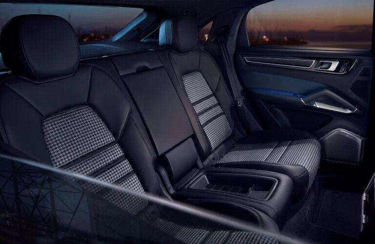 Rear seating in 2020 Porsche Cayenne Coupe