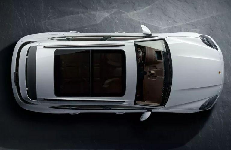 Overhead View of White 2020 Porsche Cayenne