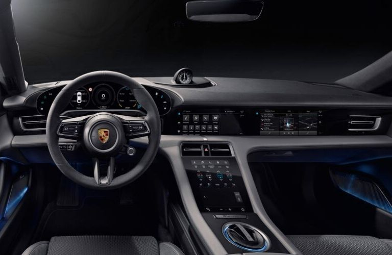 2020 Porsche Taycan Dashboard, Steering Wheel and Center Console