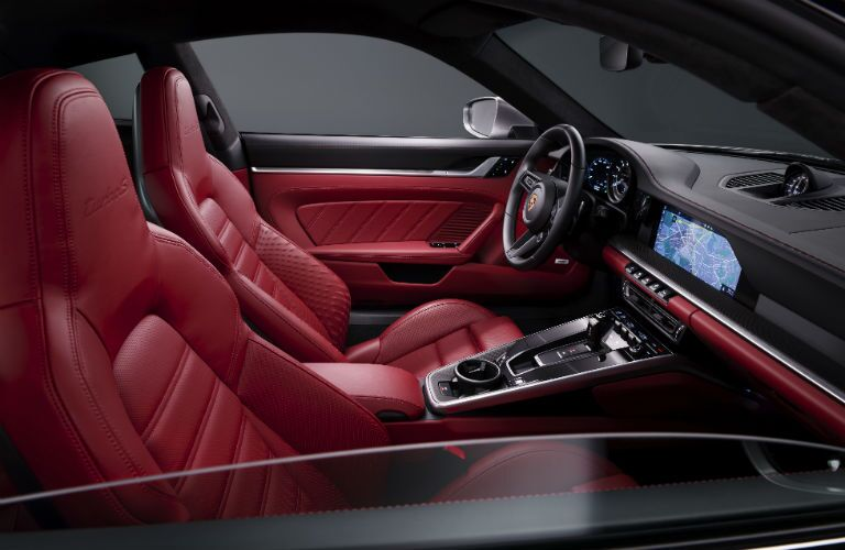 Interior view of 2021 Porsche 911 Turbo S