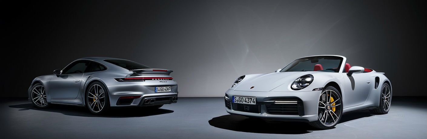 Two 2021 Porsche 911 Turbo S models