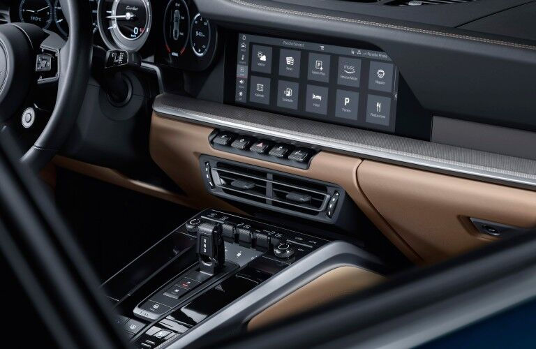 Interior view of 2021 Porsche 911 Turbo