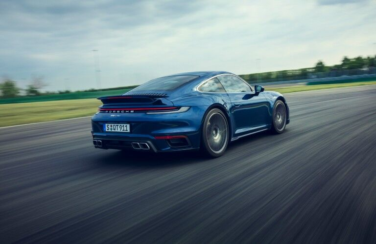 Blue 2021 Porsche 911 Turbo