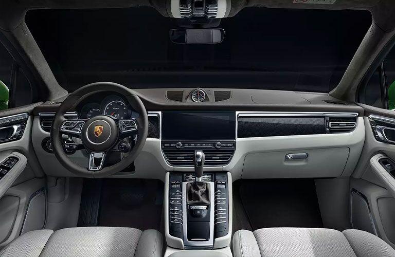 Interior view of 2021 Porsche Macan