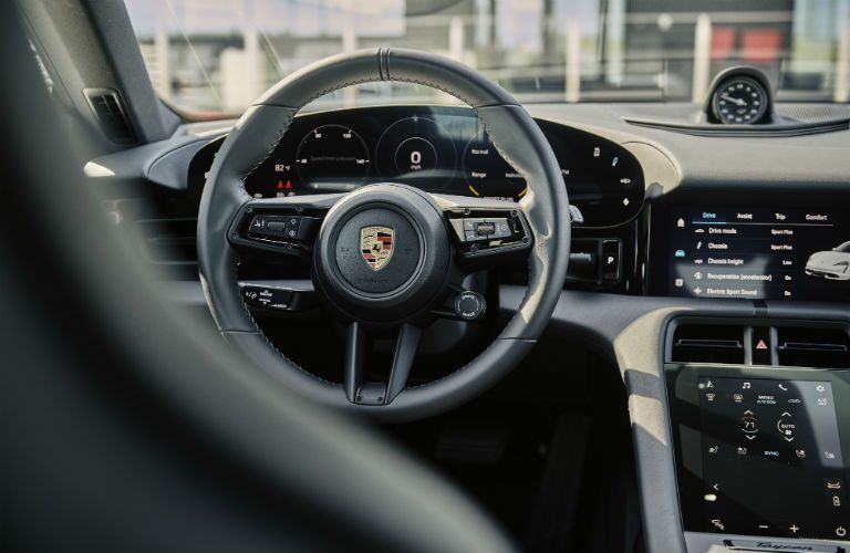 Interior view of 2021 Porsche Taycan