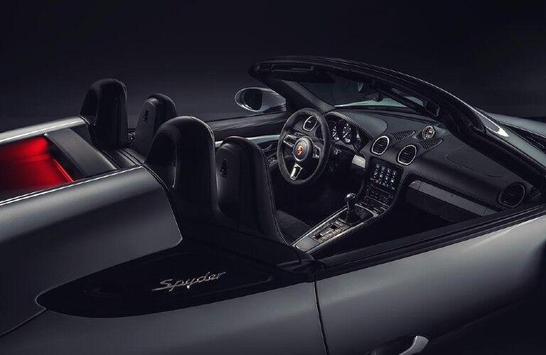 Interior view of 2021 Porsche 718 Spyder