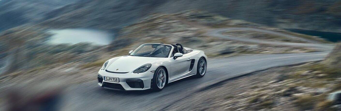 White 2021 Porsche 718 Spyder