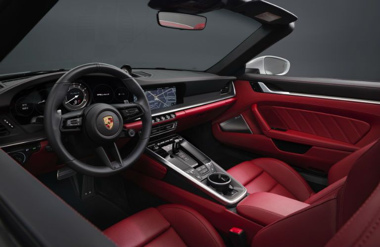 Interior view of 2021 Porsche 911 Turbo S Cabriolet