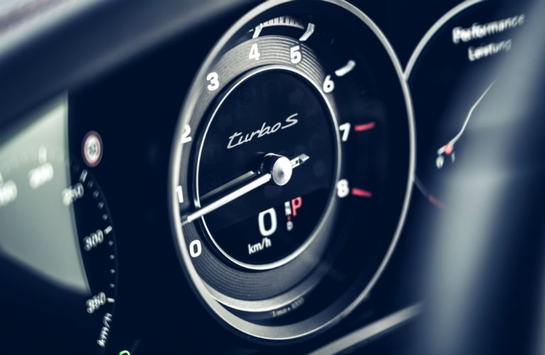 Gauges in 2021 Porsche 911 Turbo S Cabriolet