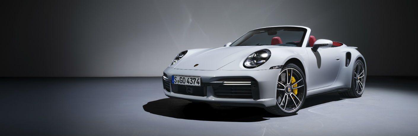 White 2021 Porsche 911 Turbo S Cabriolet