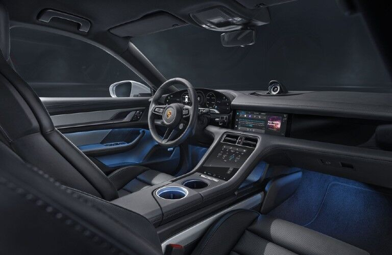 Interior view of 2021 Porsche Taycan Cross Turismo