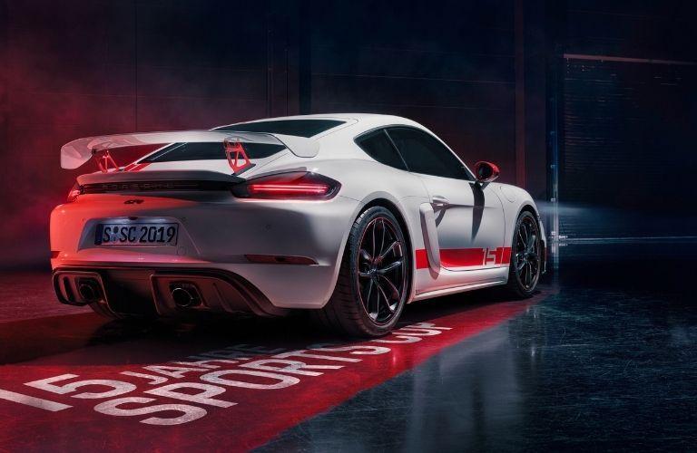 2021 Porsche 718 Cayman GT4 rear quarter view