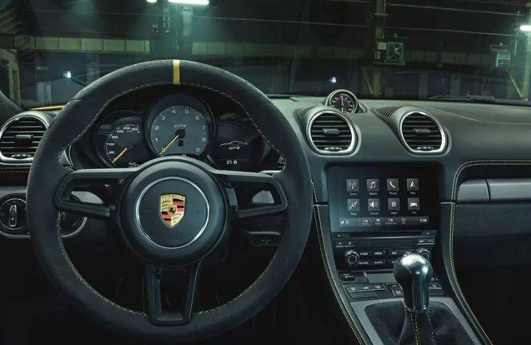 2021 Porsche 718 Cayman GT4 dashboard