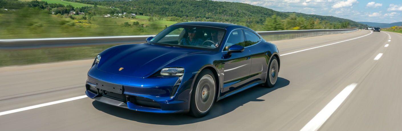 Blue 2020 Porsche Taycan Turbo