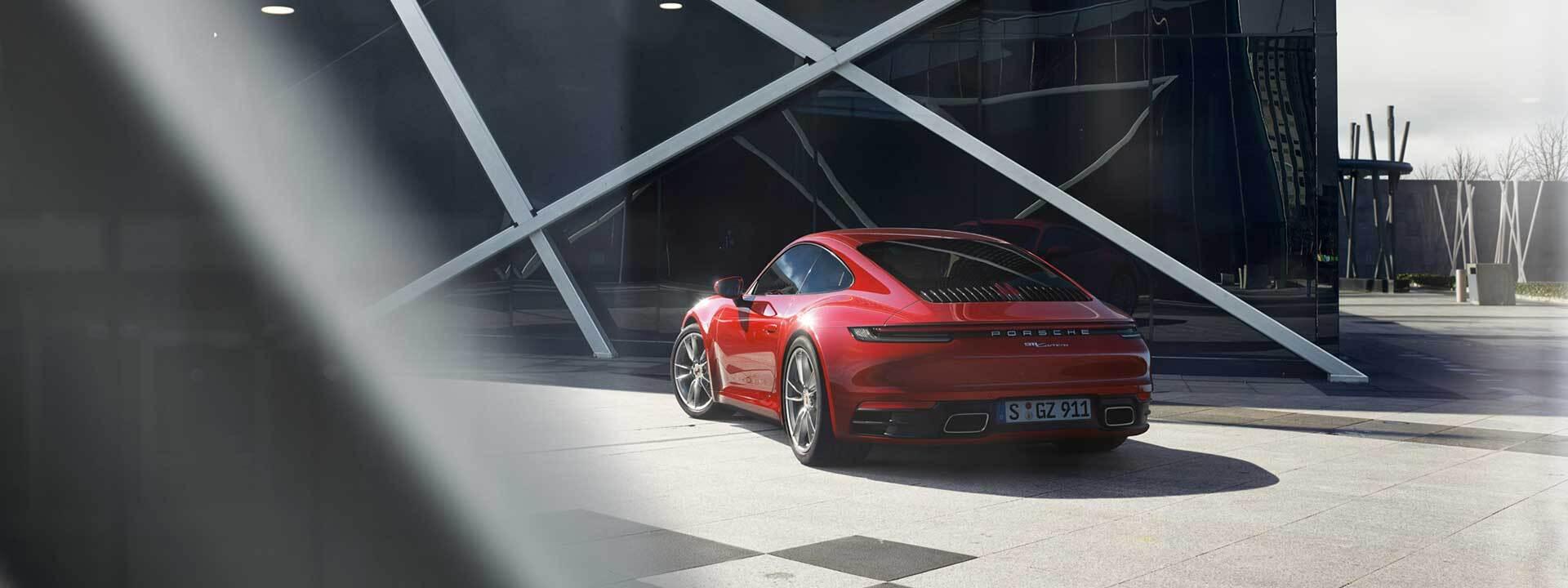 A Porsche parked in Colorado Springs, CO
