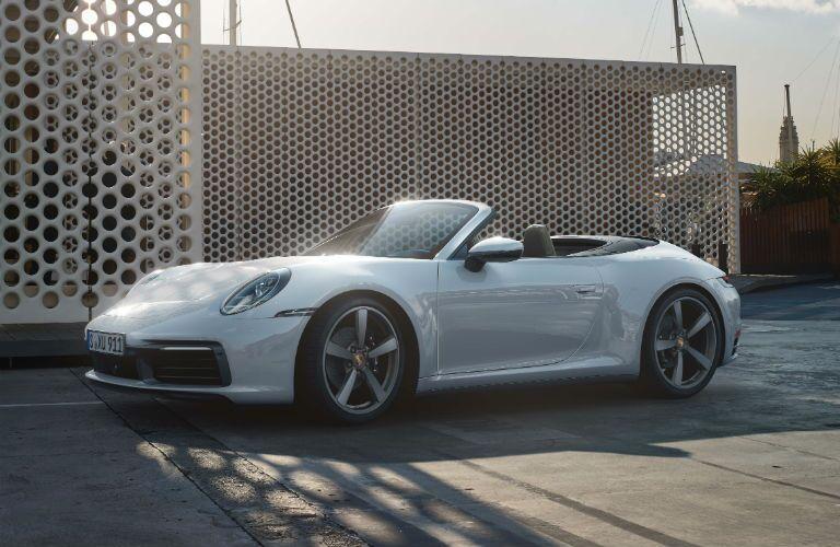 A photo of a convertible version of the 2021 Porsche 911.