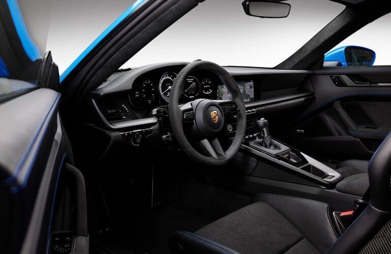 Interior view of 2022 Porsche 911 GT3