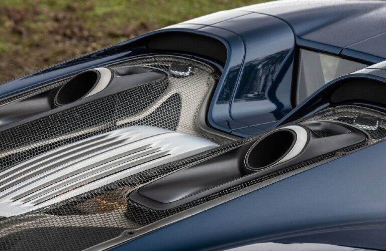Closeup of exterior detailing on Porsche 918 Spyder