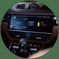 Infotainment center in 2021 Porsche Cayenne