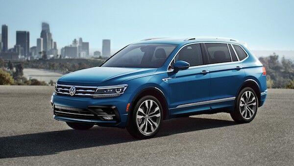 2020 Volkswagen Tiguan blue exterior design styling