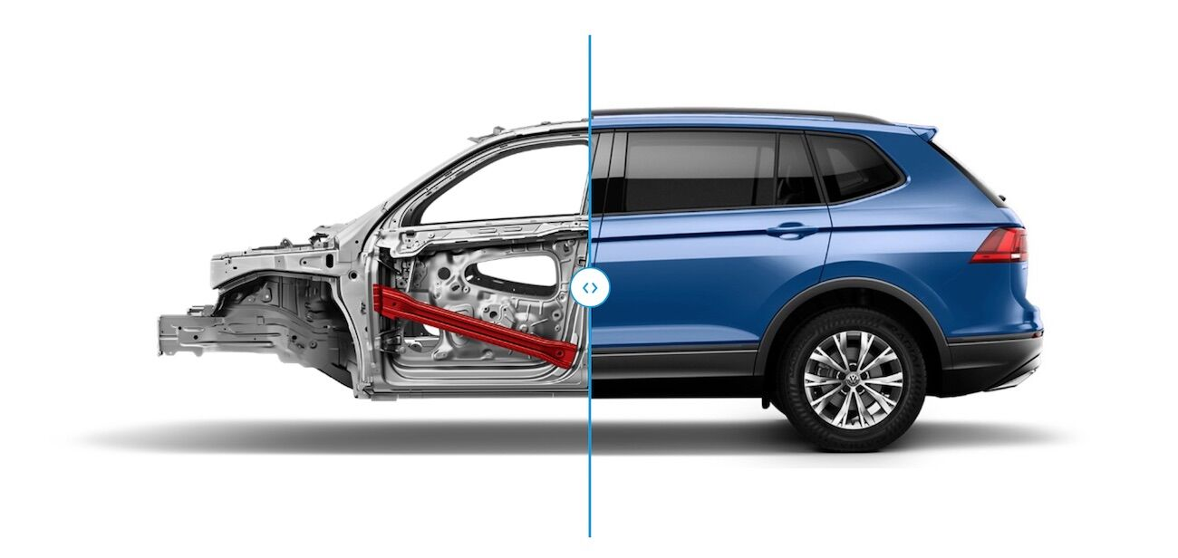 2020 Volkswagen Tiguan body cage safety design features