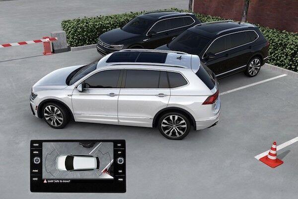 2020 Volkswagen Tiguan Overhead View Camera (Area View)