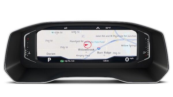 2020 Volkswagen Tiguan full screen navigation view
