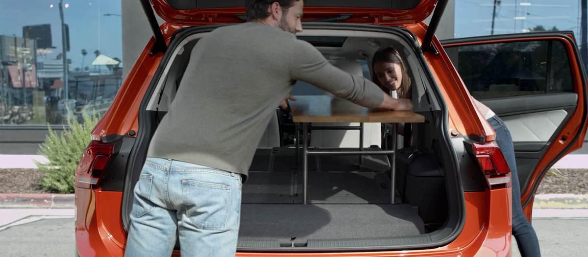 2019 Volkswagen Tiguan cargo space vs competition
