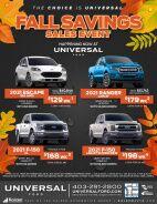 Fall Savings Sales Event