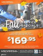 Fall Service Specials