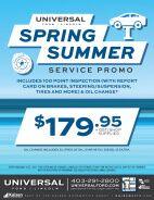 Spring Summer Service Promotion
