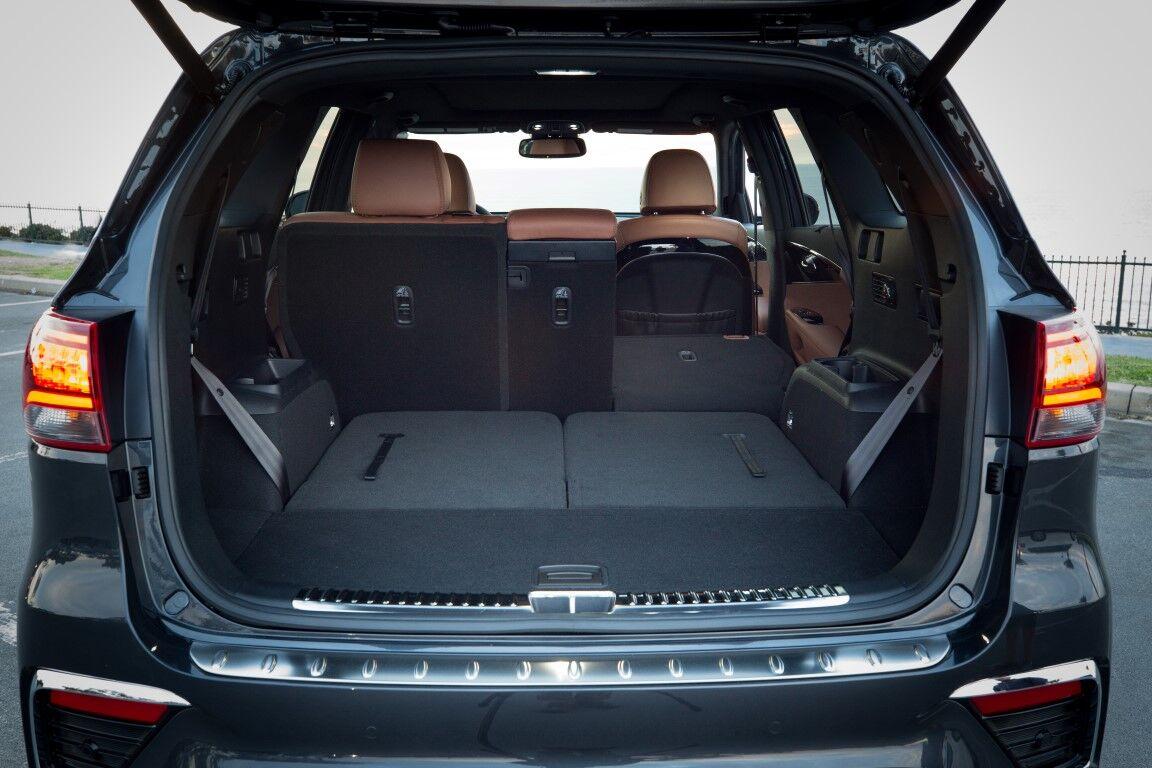 2020 Kia Sorento interior looking into rear cargo space