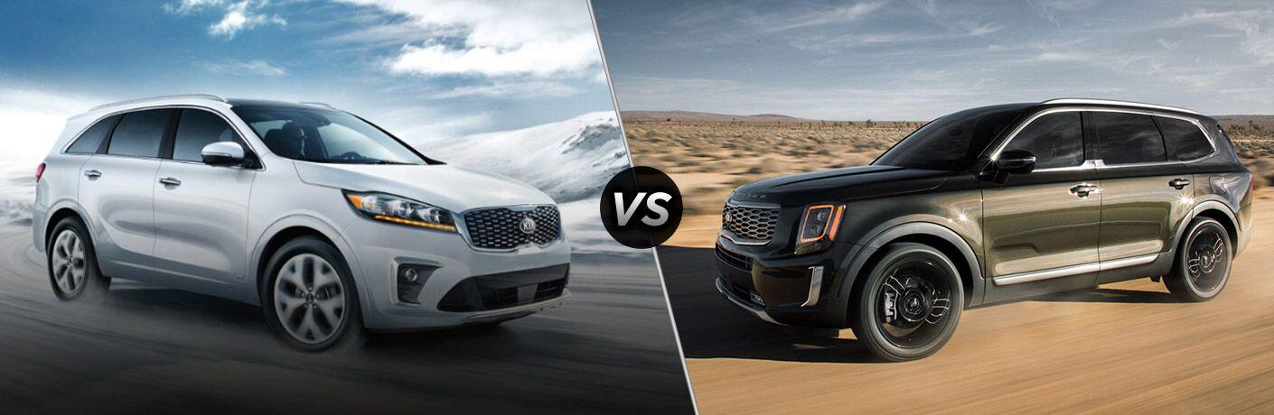 2020 Kia Sportage exterior front fascia passenger side vs 2020 Kia Sportage exterior front fascia driver side