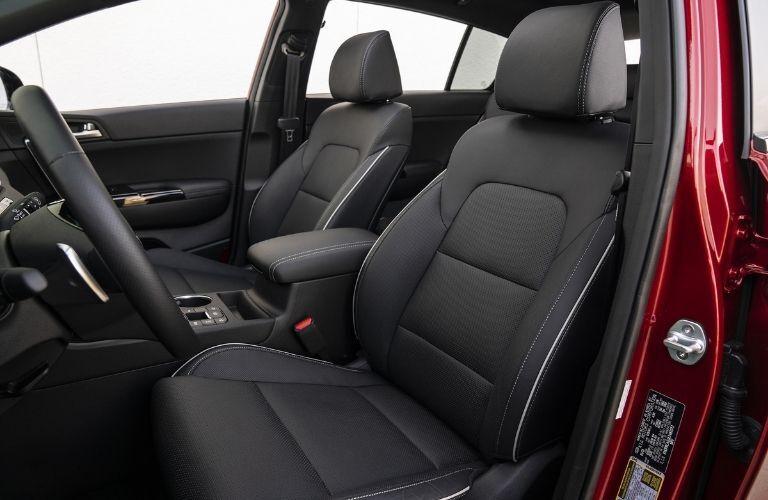 2021 Kia Sportage front seats interior view