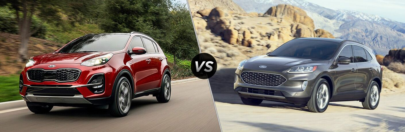 A side-by-side comparison of the 2020 Kia Sportage vs. 2019 Ford Escape