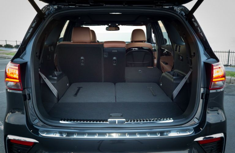 A photo of the cargo area in the 2020 Kia Sorento.