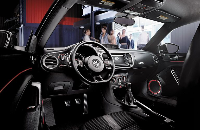 2016 VW Beetle interior seating and dashboard