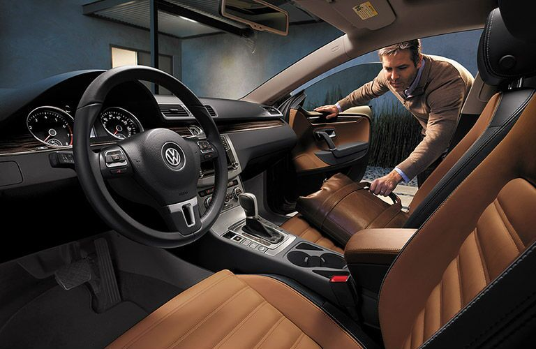 The 2016 VW CC features a roomy interior.