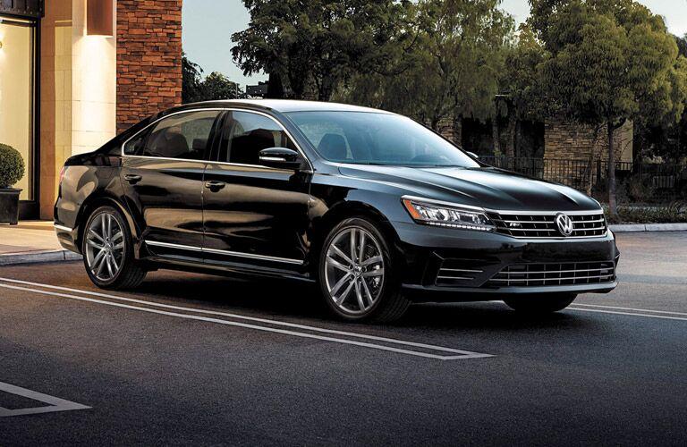 black 2017 VW Passat parked