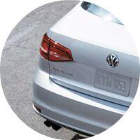 silver 2017 VW Jetta taillight