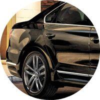black 2017 VW Passat rear