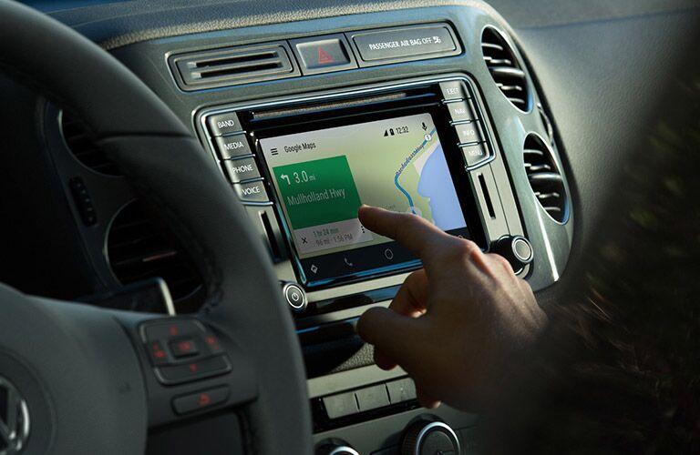 2017 Volkswagen Tiguan navigation system in use