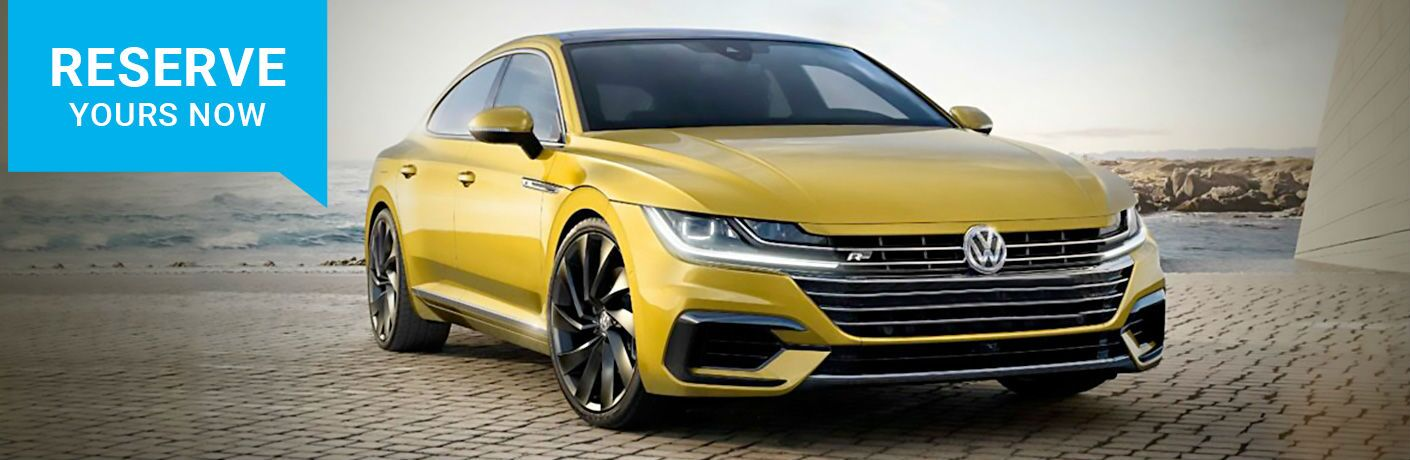 Yellow 2019 Volkswagen Arteon with Reserve Now text