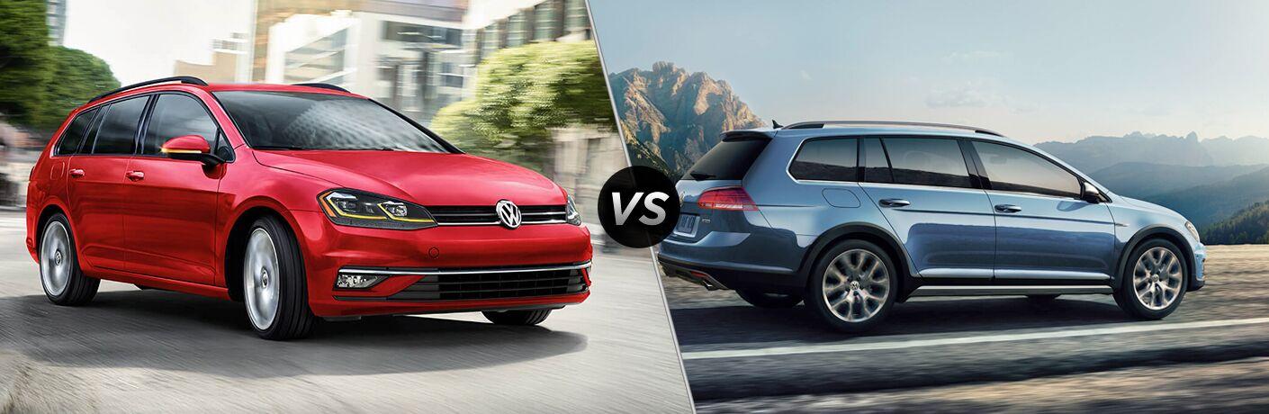 2019 Volkswagen Golf SportWagen vs 2019 Volkswagen Golf Alltrack