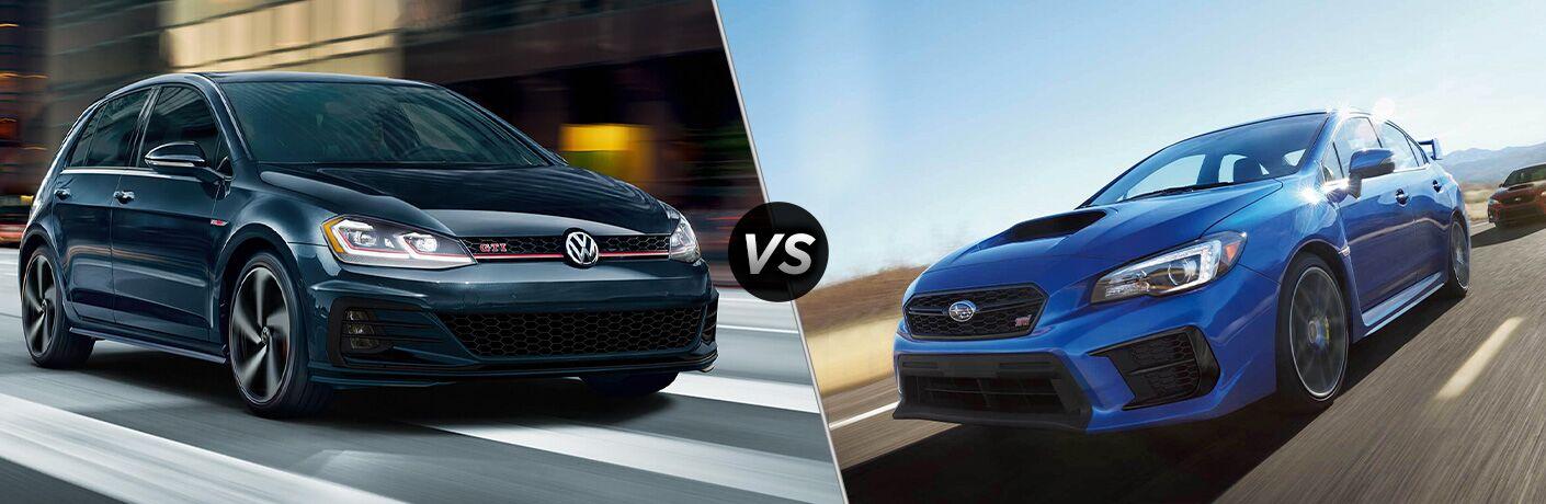 2020 Volkswagen Golf GTI vs. 2020 Subaru WRx