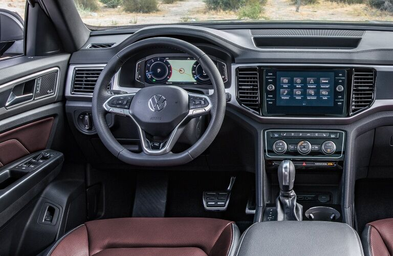 Interior front control center of a 2020 Volkswagen Atlas Cross Sport