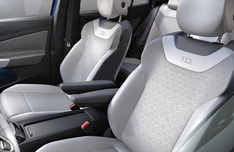 Front seats inside 2021 Volkswagen ID.4
