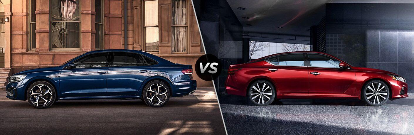 2021 Volkswagen Passat vs 2021 Nissan Altima