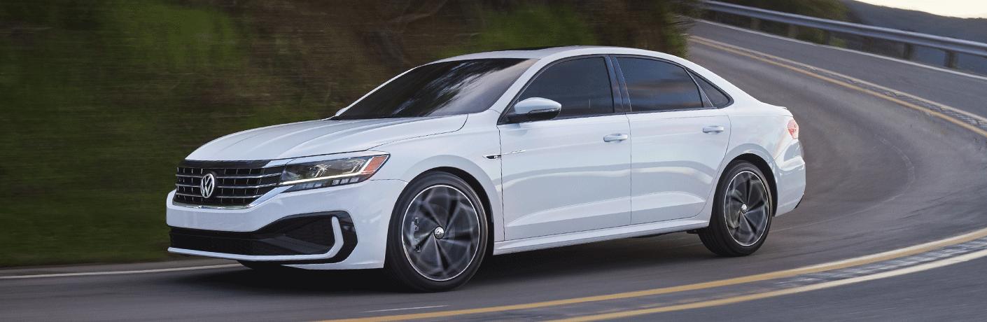 White 2021 Volkswagen Passat on highway