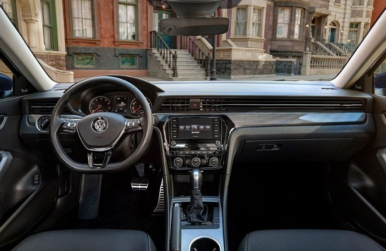 The cockpit of the 2022 Volkswagen Passat.